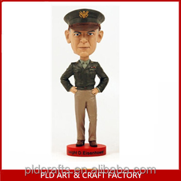 2014 New Style Resin bobble head figurines/Police Man Bobble head