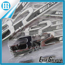 custom abs chrome badges lettering stickers shiny automotive chrome car emblems plastic emblems adhesive car emblem