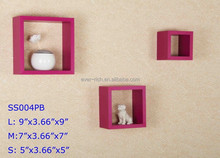 2016 Fashion new style MDF wooden decoration cube wall shelves,Modern Wall Wood shelf