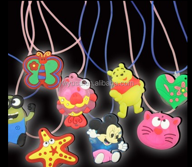 Hot sell China Glowing Blue Light Cartoon Girls Fashion Animal mother child led necklace