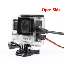 Gopro Hero3 Skeleton Protective case Housing Side-opening & Backdoor with hole with lens glass for GoPro Hero 3+/4