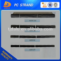 Low price high tensile strength 7 wire PC steel strand wire for road