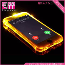 New style For iPhone 6 LED call light flash case for iPhone 6 6S Plus