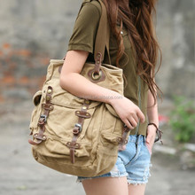 Personalized Casual Fashion Vintage Canvas Woman Bag Shoulder Handbags