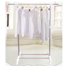 adjustable height stainless steel hanging clothes rack