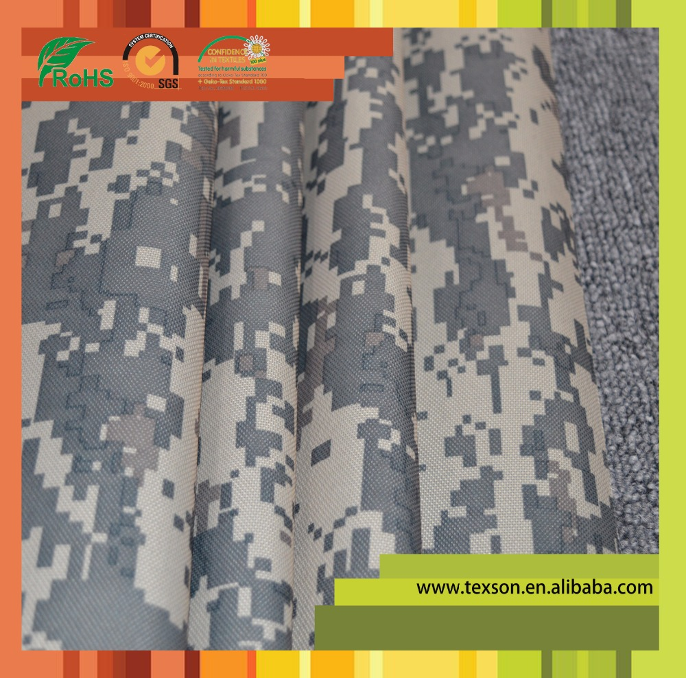 army uniform material 600D polyester fabric with pvc coated fabric army fabric