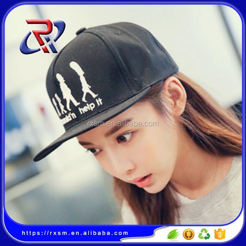 Korea cartoon logo embroidery cat fashion flat-brimmed baseball <strong>caps</strong>