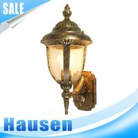 Household factory direct IP44 e27 wall outdoor waterproof brass light