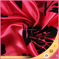 Latest designs Attractive Printed flocking textured polyester fabric