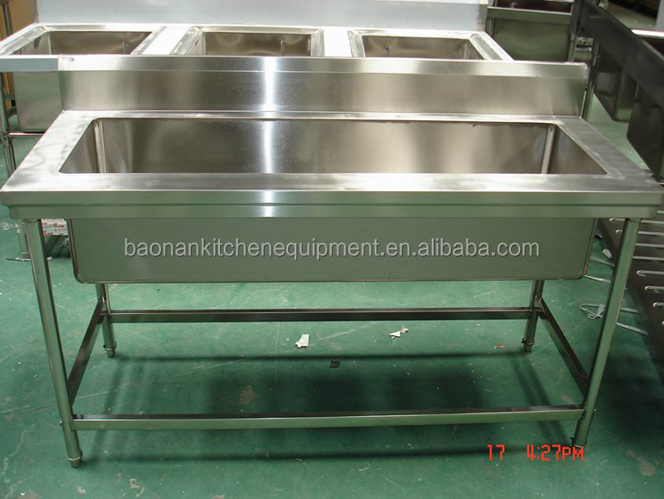 Stainless Steel Single Pot Wash Catering Sink