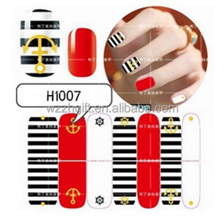 Newest Nail Art Transfer Craft Fashion DIY nail sticker Tip