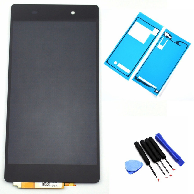 Original LCD Display For Sony Xperia Z2 D6502 D6503 D6543 L50W Touch screen digitizer with Tools Adhesive sticker