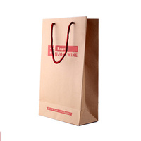 Custom logo kraft paper gift bag/ paper wine bag