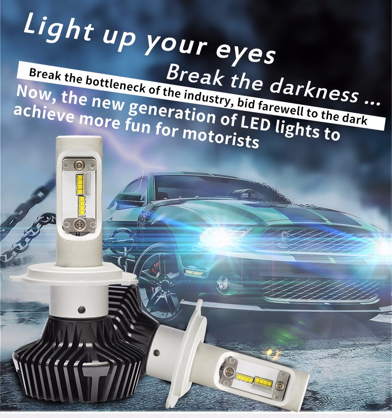 2Pcs/lot H4 H7 H13 led H11 9005 9004 Car COB LED Headlight 160W 16000LM Car LED Headlights Bulb Head Lamp White 6500K