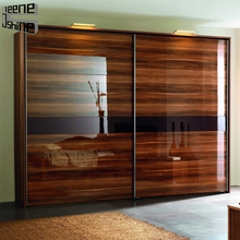 Most fashion high gloss acrylic bedroom wardrobe cabinet furniture set
