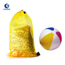 Large Heavy Duty Eco Grocery Beach Sport Ball Swimming Wash Laundry Fabric Towel Drawstring Mesh Bag With Custom Logo