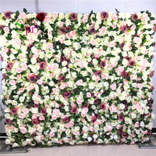 SPR 3D Good quality custom made wedding rose flower wall hanging artificial flowers wholesale wedding  decoration flower