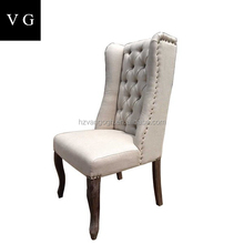 grey tufted button back living room chair waiting room wedding chair wing back tiffany chair