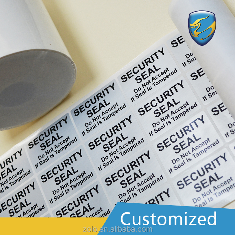 Custom logo Adhesive sticker security label of CE and ISO9001 standard