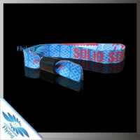 Satin one time Off woven wristband for promotional items