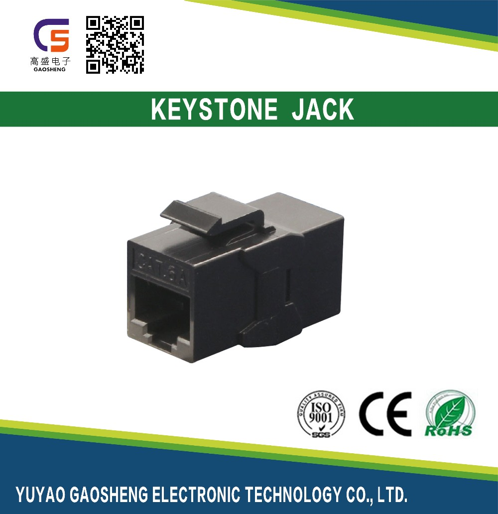 RJ45 to RJ45 adapter 8P8C Cat.6A Shielded Keystone Connector Jack Manufacturer