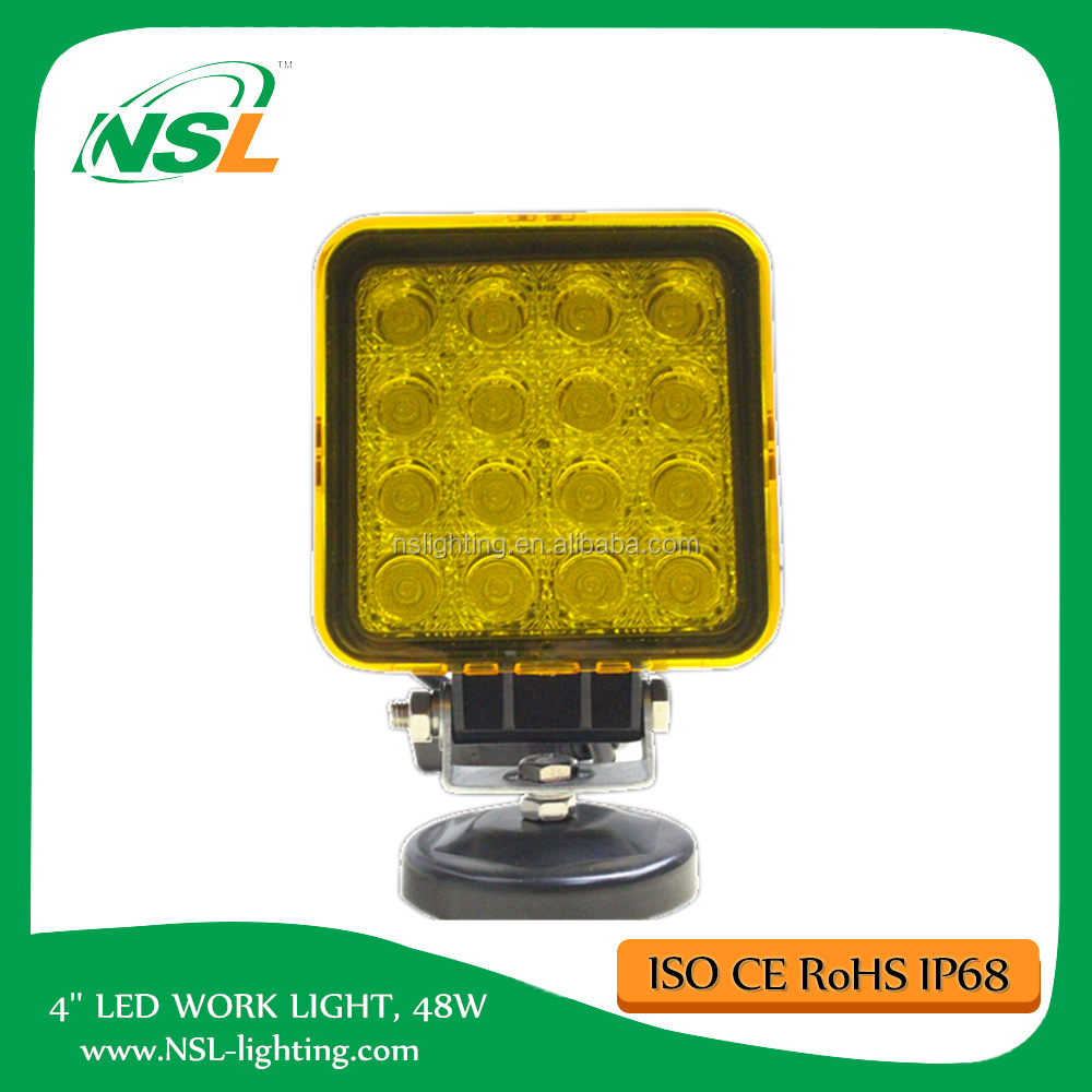 4 inch Square Auto 48W LED Work Light 12V 24V EMC Car Truck 4X4 SUV 4WD Marine Offroad Driving Fog Light IP67,ROHS,CE