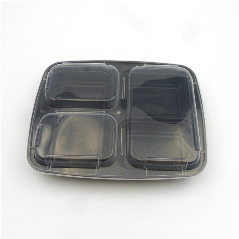 Hot Disposable 3-Compartment 3 Compartment Food Containers