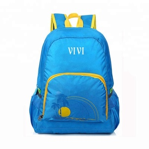 Customized OEM fashion ripstop travel sports back pack school bagpack teenagers folding bag backpack