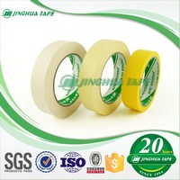 308F Solvent Rubber Adhesive White Yellow Blue Brown Coloured Masking Tape