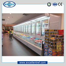 commercial display fridge freezer for frozen food of combination cabinet