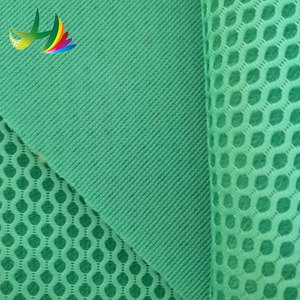 breathable 3d woven air mesh polyester crepe fabric