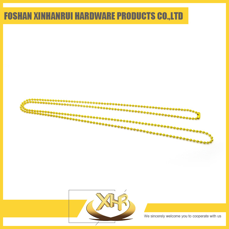 Wholesale yellow color round ball beads chain necklace for sale