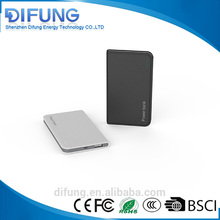 Shenzhen factory supply 4000mah 4400mah pocket power bank ecofriendly