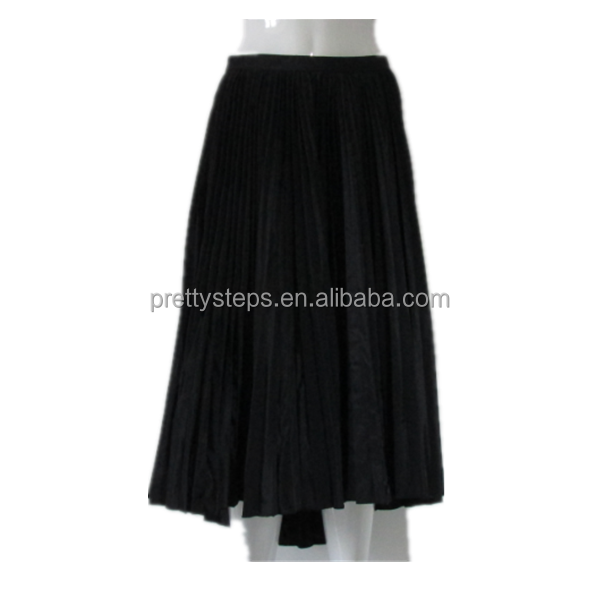 Pretty steps 2015 female casual dresses skirt Black Flared peated long Skirt