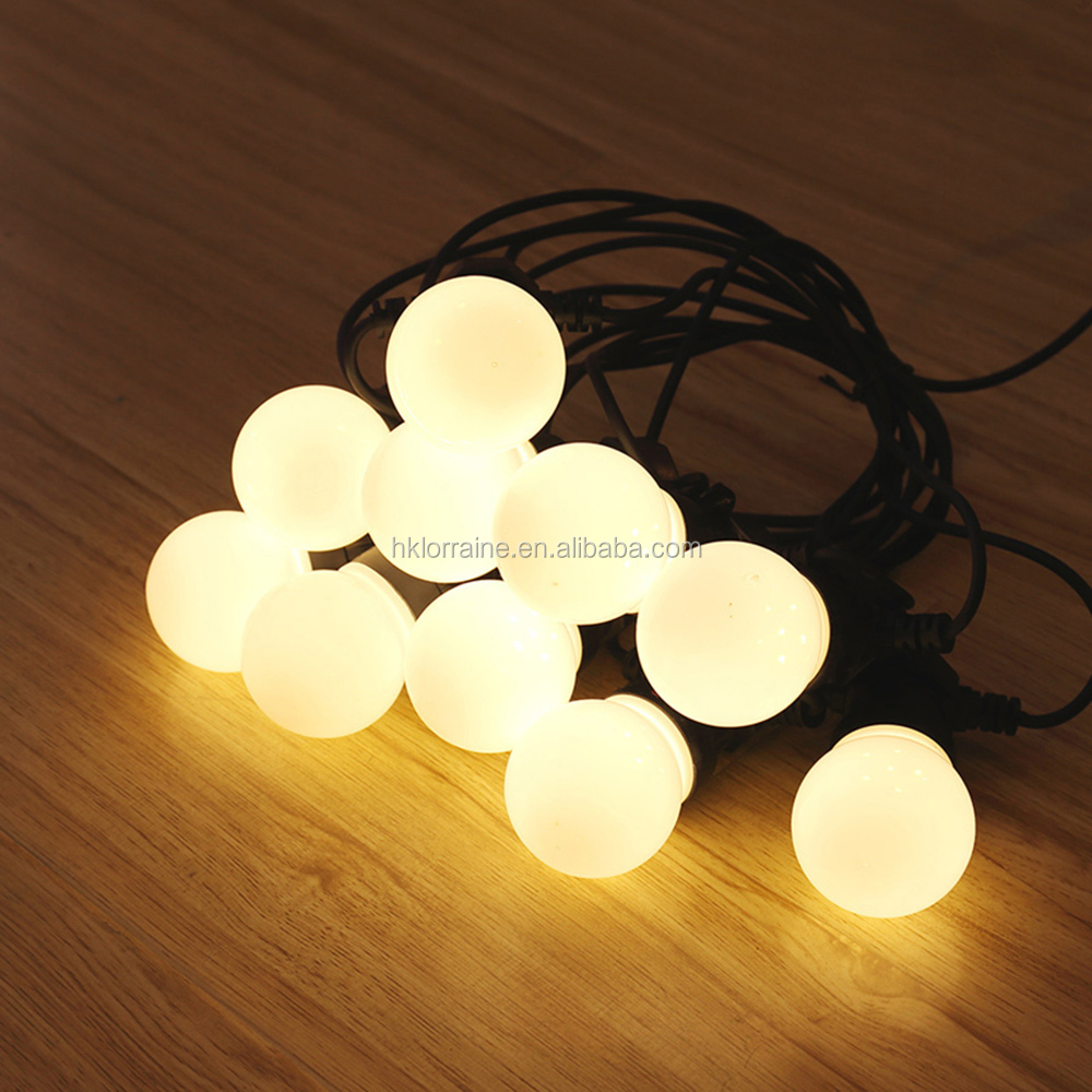 25Ft G40 Globe String Lights with Clear Bulbs, UL listed Backyard Patio Lights, Hanging Indoor/Outdoor String Light for Bistro P