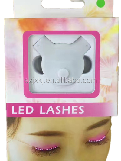 New led light false eyelashes, bar KTV cheer props flashing eyelash lamp, light eyelashes