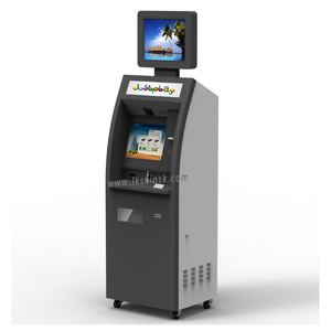 customized self service cash payment kiosk with coin dispenser