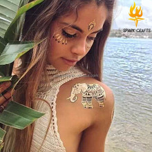 Custom various gold or silver flash temporary tattoos