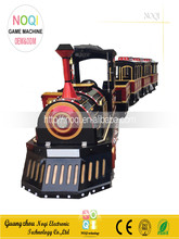 Noqi 2016 outdoor amusement equipment adult rides train set electric amusement kids train