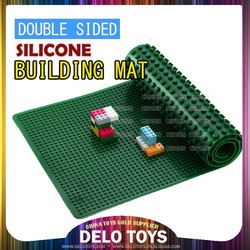 "32"" long Food Grade silicone non-toxic building blocks soft base plate / soft brick building play mat / 2 sided mat DE0000 5"