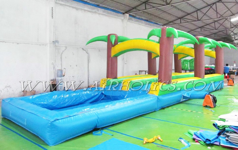 2015 high quality 0.55mm PVC inflatable SLIP N SLIDE