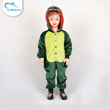High quality washable quick dry custom made thermal fitted heated kids dinosaur onesie pajamas baby