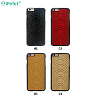 Premium Embossed Hard PC Shell leather back cover For iPhone 6/plus cell phone covers