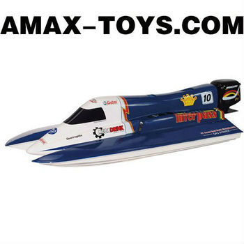 GS-1769113A rc gas boat for sale 2.4GHz 3 Channels F1 Powered Remote Control Speed Boat