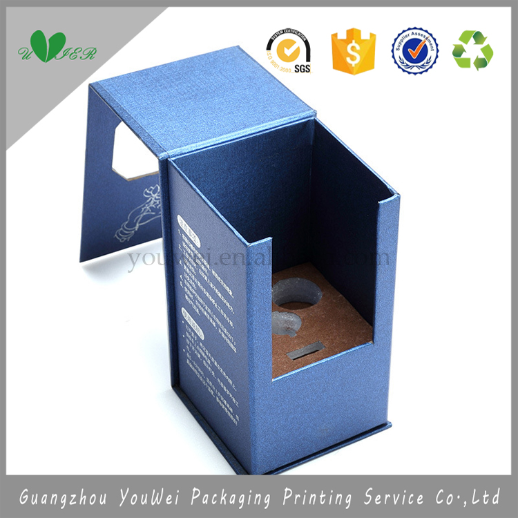 wholesale car aromatic compounds box packaging cardboard,blue color OEM logo silver stamping special shape packaging box