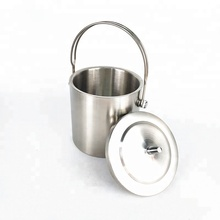 2.0L Party ice bucket stainless steel ice bucket champagne beer cooler for bar