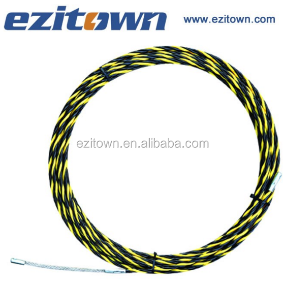 ezitown 3 core woven braided cable puller yellow black color heavy duty fish tape reusable nylon heat shrink tape