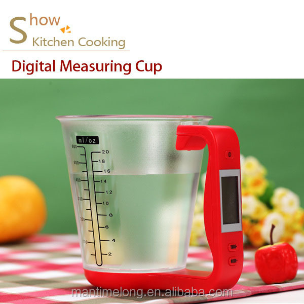 2 in 1 multi function Digital measuring cup measuring cup plastic measuring cup