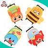 Children plush +pp rolling luggage case boy travel luggage kid's suitcase manufacturer