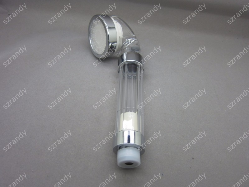temperature sensor 3 colors double motor shower head LD8008-F23